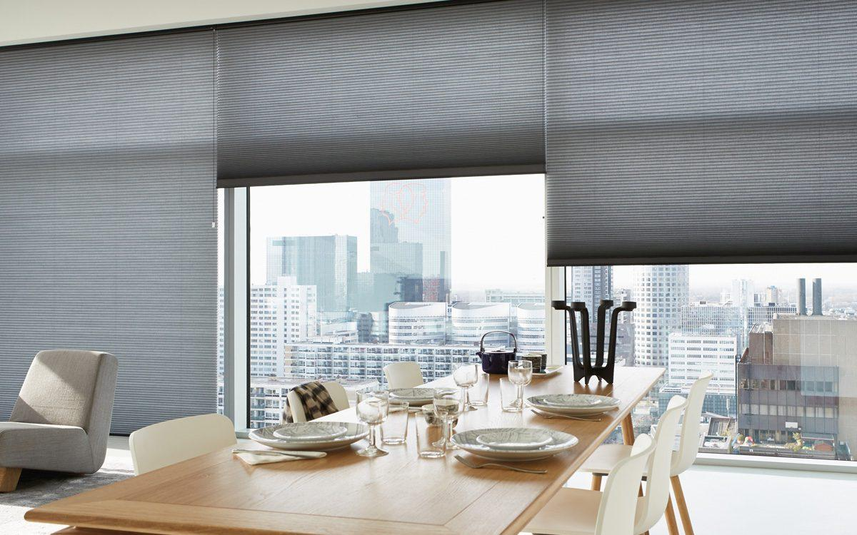 grey duette blinds