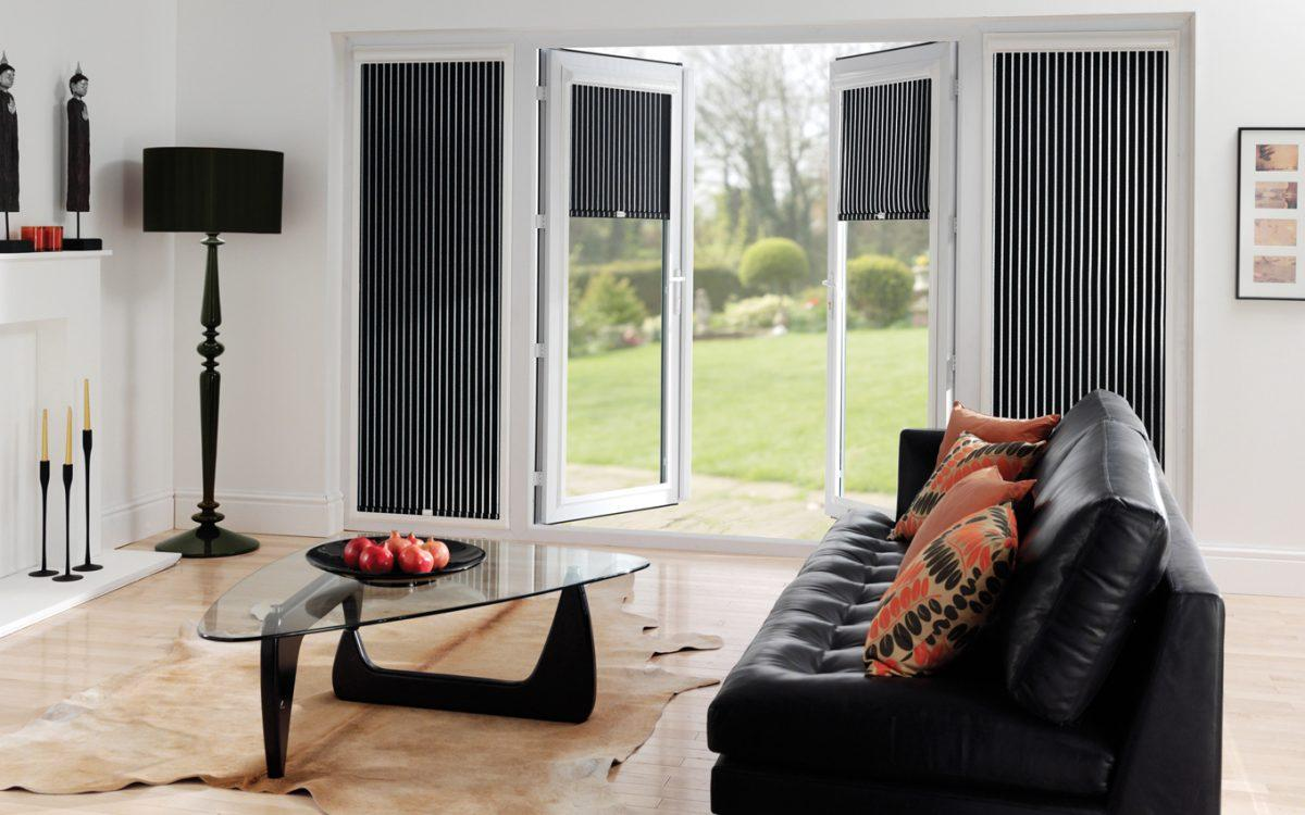 black perfect fit roller blinds